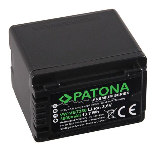 Acumulator Premium tip Panasonic VW-VBT380 HC-V750EB W580 1257 1