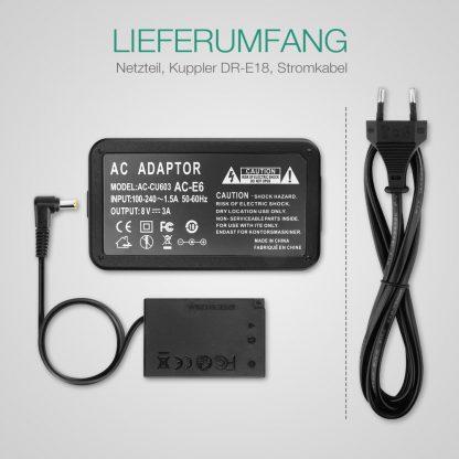Alimentator AC Adapter tip CANON ACK-E18 (AC-E6 + DR-E18) EOS 200D 750D Rebel SL2 Sub9214922 ack-e18