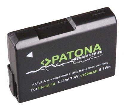 Acumulator Premium tip Nikon EN-EL14 akku Pat EN EL14 prem 1100 1