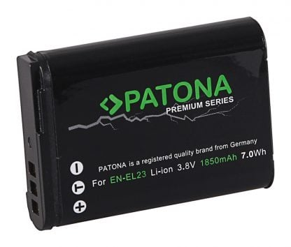 Acumulator Premium tip Nikon EN-EL23 akku Pat EN EL23 prem 1