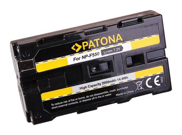 Acumulator tip Sony NP-F550 NP-F750 NP-F970 NP-F990 akku Pat F550 2000 1 Acumulator tip Sony NP-F550 NP-F750 NP-F970 NP-F990