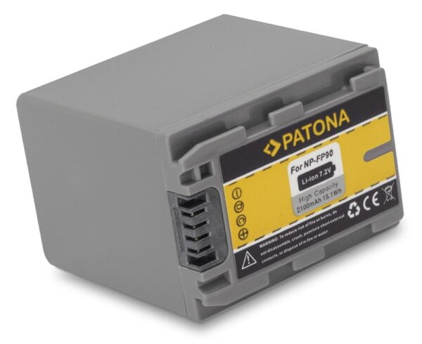 PATONA   Acumulator compatibil Sony NP-FP90 NP-FP50 NP-FP70 NP-FP30 DCR-HC65E DCR-HC85 DCR-HC30