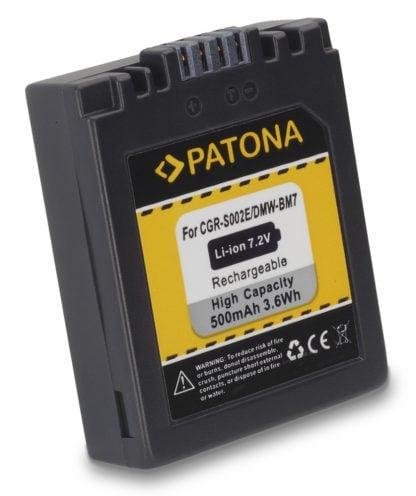 Acumulator tip Panasonic  DMW-BM7 CGA-S002 E akku Pat S002 1