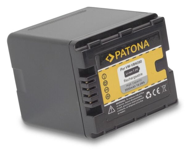 Acumulator tip Panasonic VW-VBN260 VW-VBN130 VW-VBN390 akku Pat VBN260 1