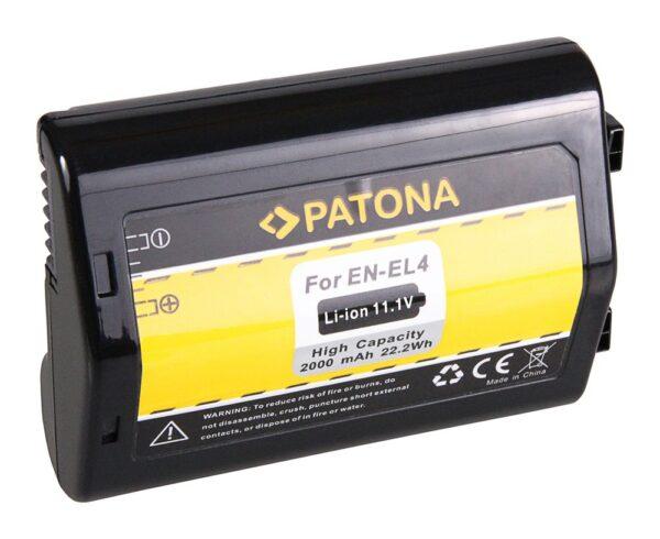 Acumulator tip Nikon EN-EL4 EN-EL4a D2H D2Hs D2X D2Xs D3 D3X F6 akku pat en el4a 1