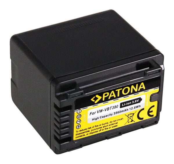 Acumulator tip Panasonic VW-VBT380 HC-V750EB W580 akku pat vbt380 1 1