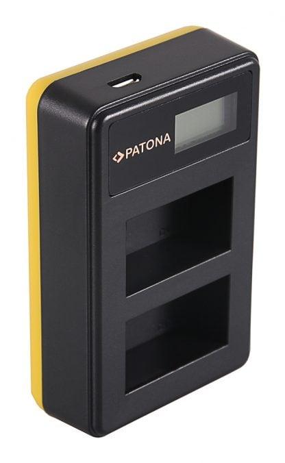 Incarcator Dual USB LCD tip Canon inc pat dual USB LCD FW50 1