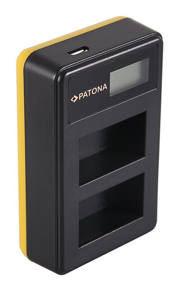 Incarcator Dual USB LCD tip Nikon inc pat dual USB LCD FW50 1