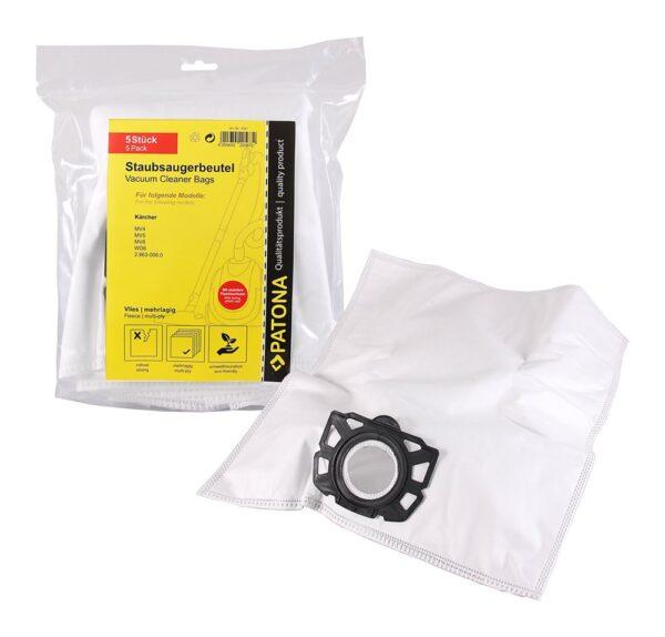 Set de 5 buc saci sintetici pentru aspirator Karcher MV4 MV5 MV6 WD4 WD5 WD6 tip 2.863-006.0 saci 9591 1