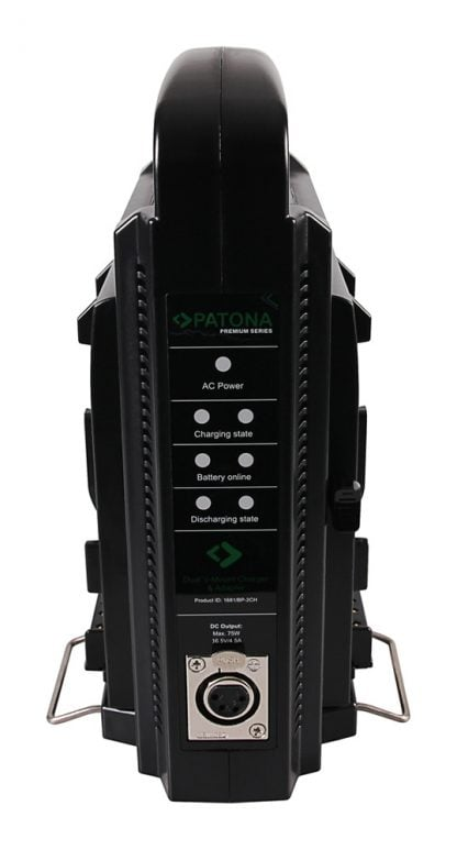 Incarcator Dual V-Mount pentru Sony BP-95W BP-GL65 BP-190WS cu cablu 4-Pin XLR inc pat 1681 4