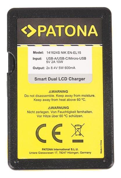 Incarcator Smart Dual USB LCD tip Sony Nikon EN-EL15 D600 D610 D7000 D7100 D800 D8000 D800E 141624 3