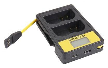 Incarcator Smart Dual USB LCD tip Sony Nikon EN-EL15 D600 D610 D7000 D7100 D800 D8000 D800E 141624 7