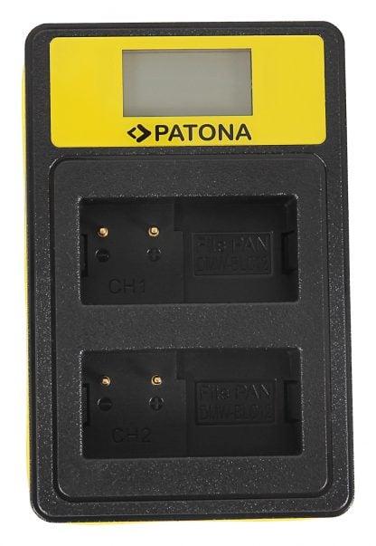 Incarcator Smart Dual USB LCD tip Leica Panasonic DMW-BLC12PP V-Lux 4 Panasonic DMW-BLC12PP 141625 2