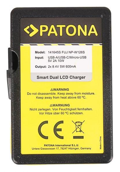 Incarcator Smart Dual USB LCD tip Fuji NP-W126 HS30-EXR HS33-EXR 141645 3