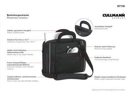 CULLMANN | Geanta pt laptop Boavista 15.6 inch neagra 825 2