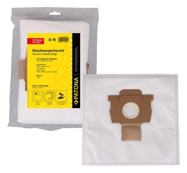 10 saci sintetici pentru Rowenta RO 1600 2011 2026 3800 3899 Menalux 2306 9578 1