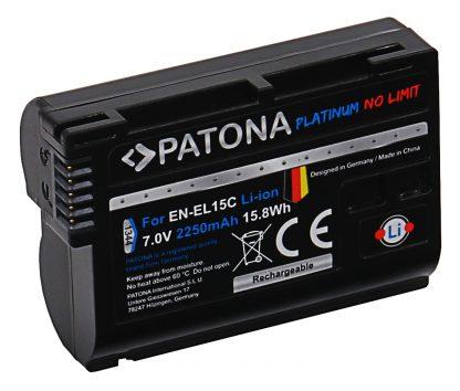 Acumulator Platinum tip Nikon EN-EL15C Z5 Z6 Z7 D500 D800 D850 D7000 D7100 D7200 VFB12802 akku pat EL15C 1344 2 EN-EL15c