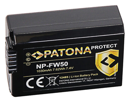 Acumulator Protect tip Sony NP-FW50 akku pat 12485 2 NP-FW50